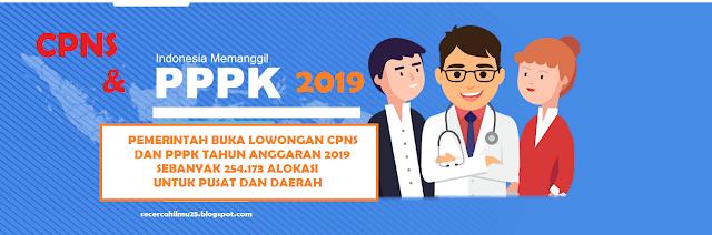Info Update! Kebutuhan CPNS dan PPPK Tahun Anggaran 2019 Sebanyak 254.173 Alokasi