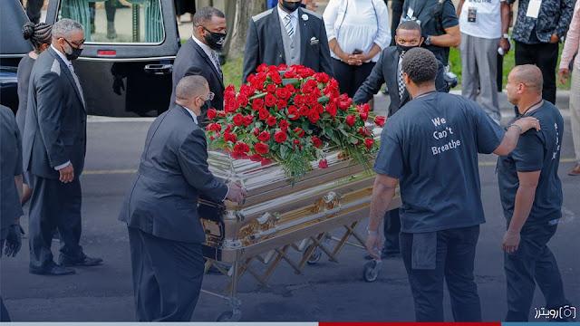 صور من نصب جورج فلويد التذكاري في مينيابوليس يوم الخميس