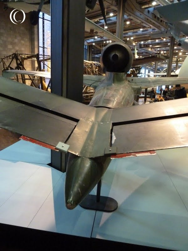 Heinkel He 162 A-2 Volksjager tail piece