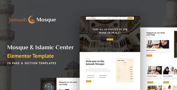 Best Mosque and Islamic Center Elementor Template Kit