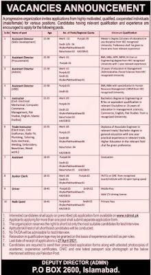 PO Box No. 2600 Islamabad Jobs 2021 Apply Through NSDP