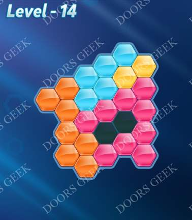 Block! Hexa Puzzle [5 Mania] Level 14 Solution, Cheats, Walkthrough for android, iphone, ipad, ipod