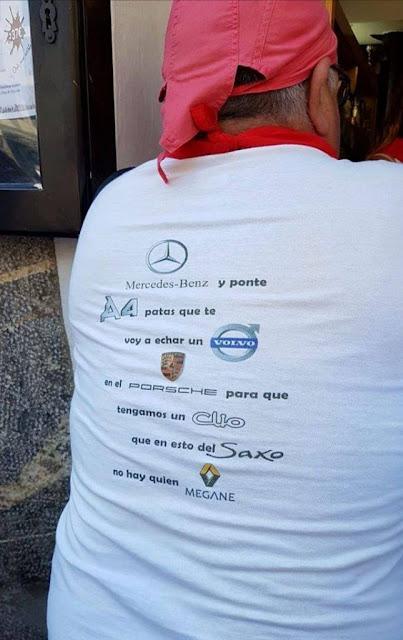Mercedes-Benz y ponte A4 patas que te voy a echar un Volvo en el Porsche para que tengamos un Clio que en esto del Saxo no hay quien Megane