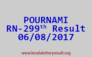 POURNAMI Lottery RN 299 Results 6-8-2017