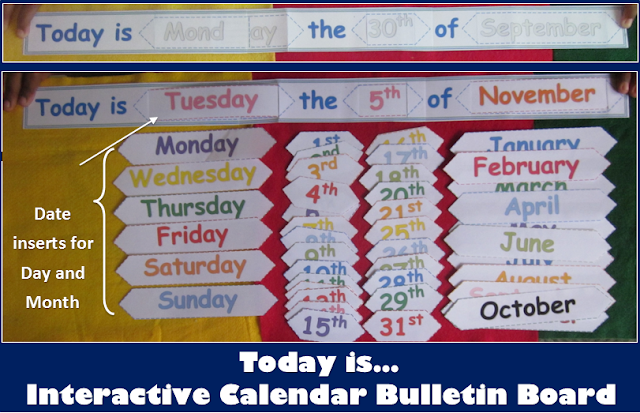 DIY School Calendar Bulletin Board for any Year