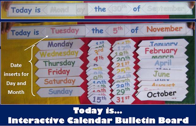 DIY School Calendar Bulletin Board for any Year
