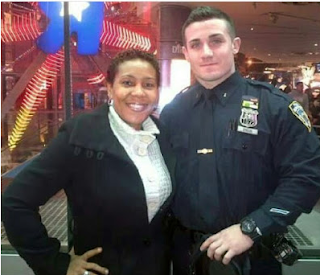 "Actress Shan George meets NYPD officer who says Nigeria Police Force is ""one of the best in the world"""