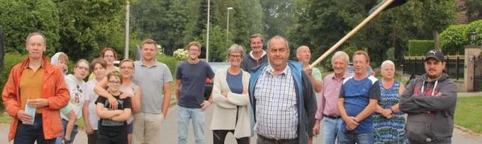Protest in Zelzate tegen snelle busbaan in doodlopende straat
