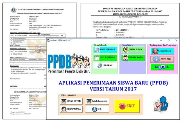 Aplikasi PPDB Versi 2017 Non Test Seleksi Penerimaan