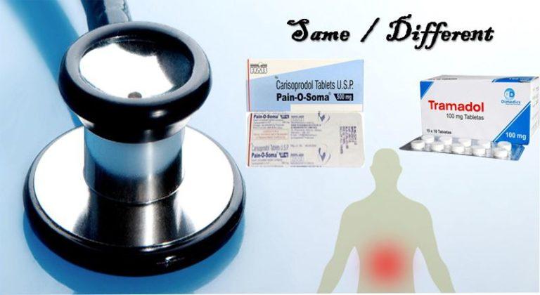 Pain o soma 350mg round white and blue