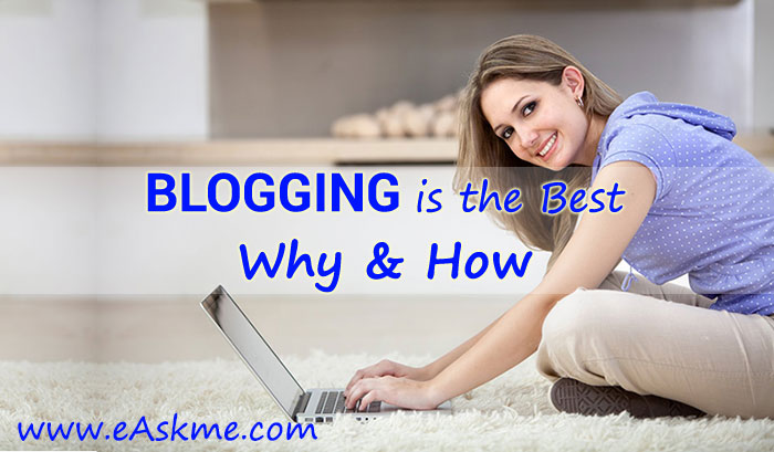 Why & How Blogging Is The Best Online Money Making Business? Find out Here!: eAskme