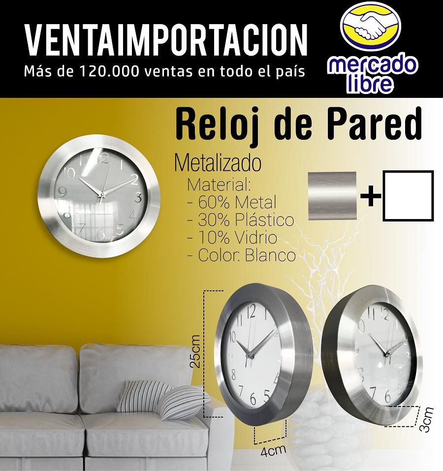 CF: Reloj De Pared Marco De Acero Grande Nivel Premium Deco (WEB)