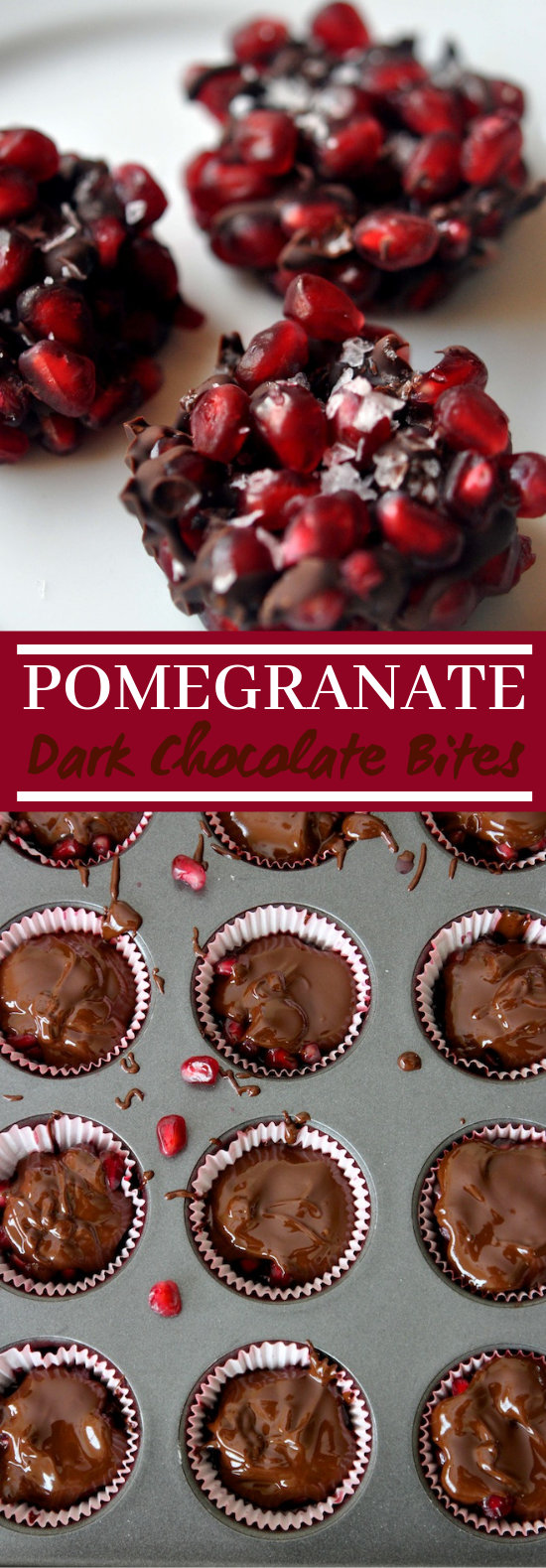 Pomegranate & Dark Chocolate Bites #chocolate #desserts