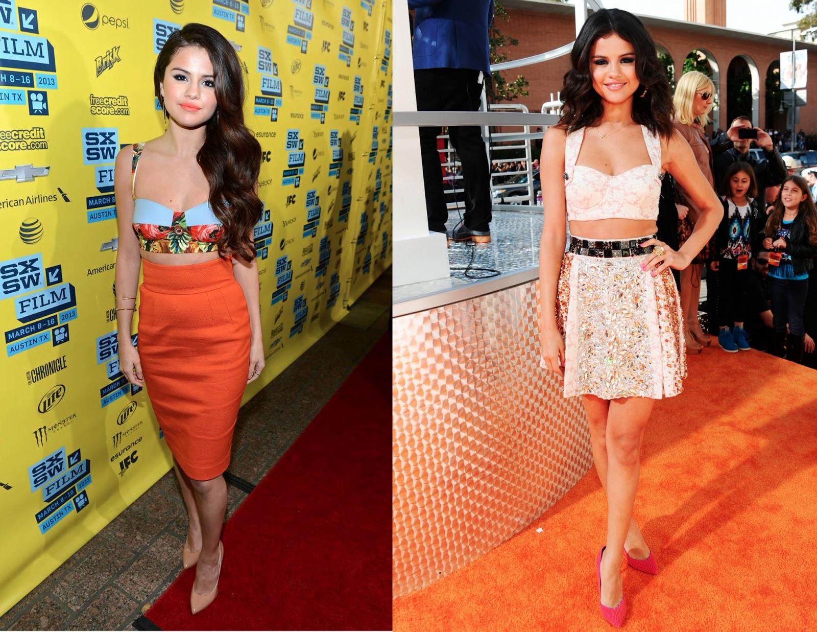 Red Carpet Crush Selena Gomez S Crop Tops Svelte Metals
