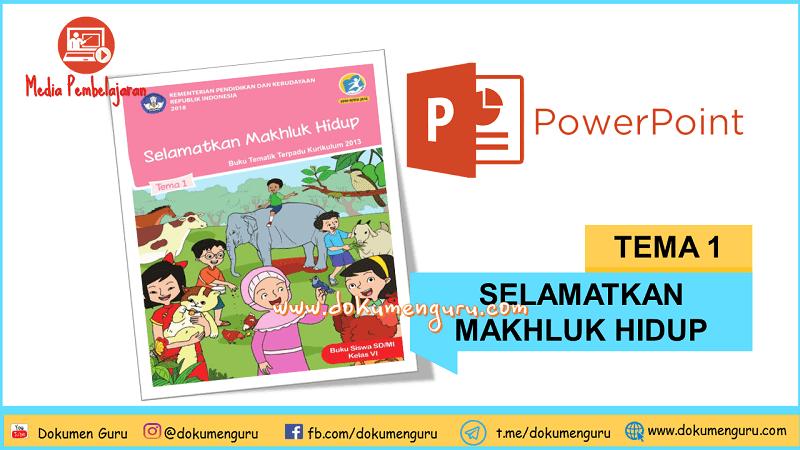 [Download] Media Pembelajaran PowerPoint Kelas 6 SD Tema 1 Selamatkan Makhluk Hidup