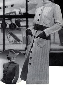 The Vintage Pattern Files: Free 1930's Knitting Pattern - Wings Coat and Dress Pattern