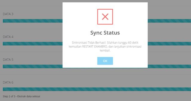 Sync Status Error