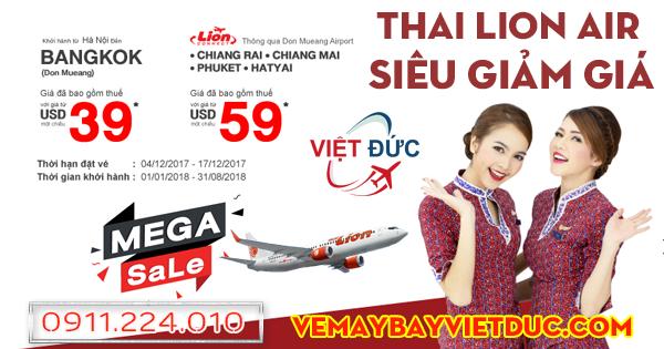 khuyến mãi vé 39 usd đi Thái Lan bay từ Hà Nội của Thai Lion Air