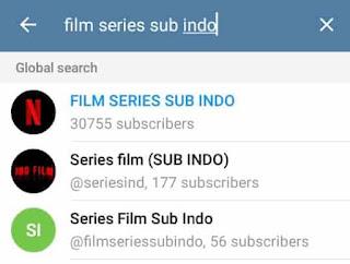 pilih channel film di telegram