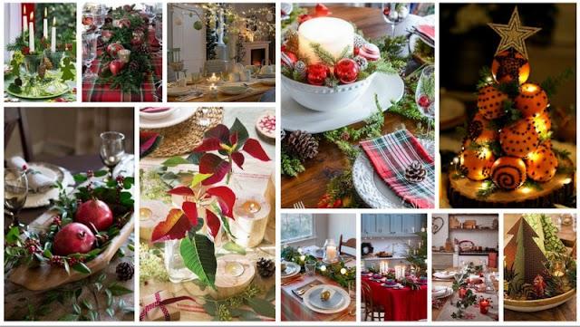 Προτάσεις για να Διακοσμήσετε όμορφα το Χριστουγεννιάτικο Τραπέζι με απλά υλικά-αντικείμενα