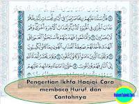 Pengertian Ikhfa Haqiqi, Cara membaca Huruf, dan Contohnya