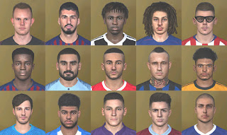PES 2019 DLC 5.0 faces Converted for PES 2017