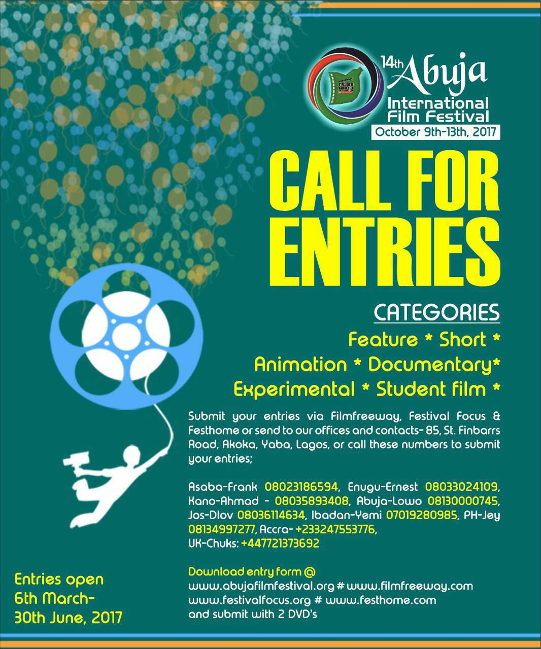The Organisers Of Abuja International Film Festival Calls For Entries 2017 Edition Read Instructions On How To Enter Your