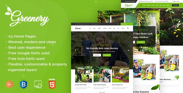 Responsive Gardening, Lawn & Landscaping HTML Template