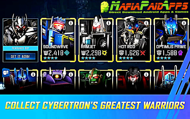 TRANSFORMERS: Forged to Fight Apk MafiaPaidApps