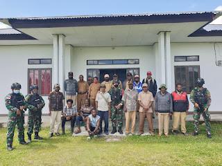 Satgas TNI Hadiri Rapat Persiapan Peringatan HUT RI ke-76 di Jayawijaya