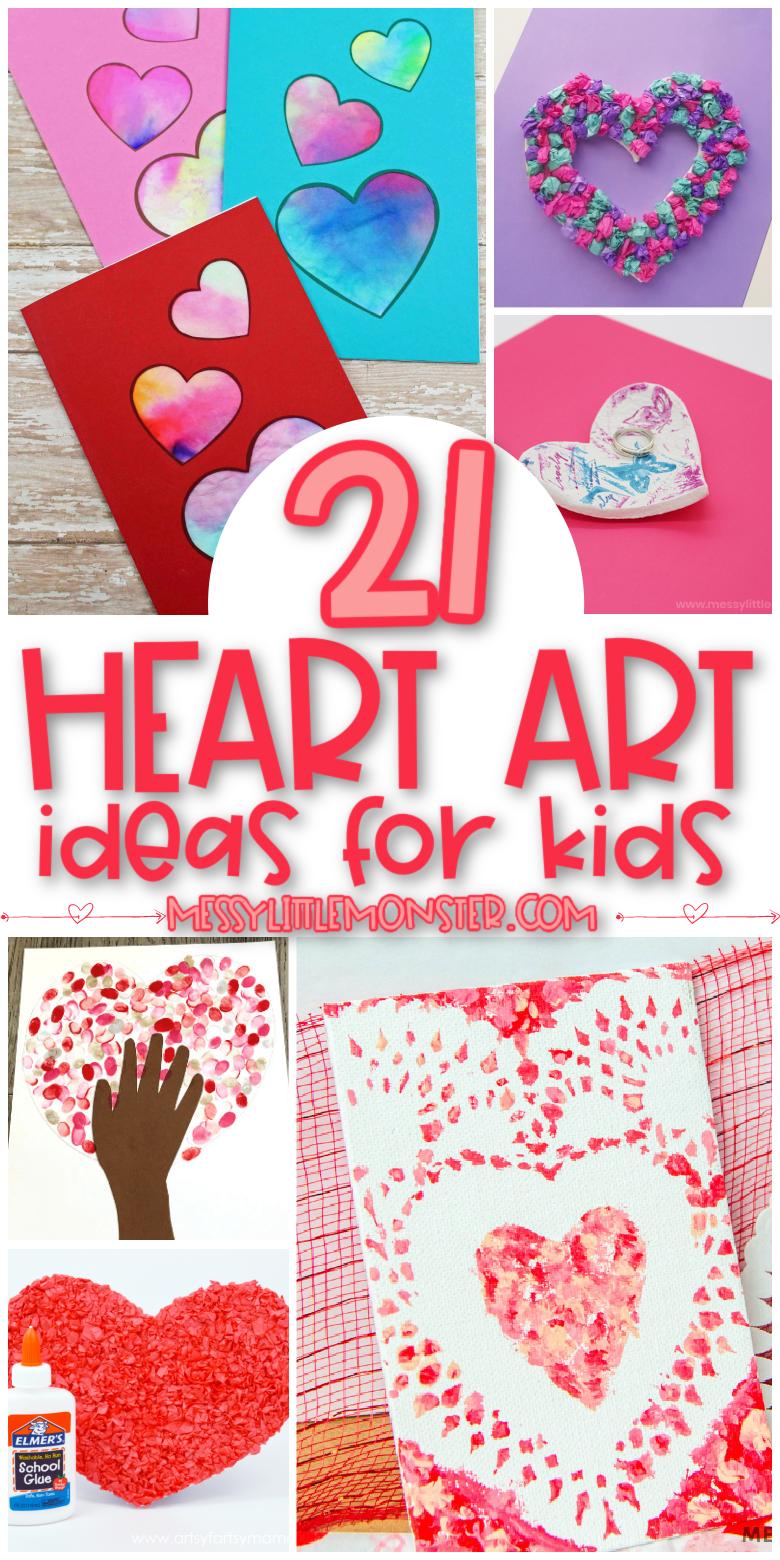 Heart art ideas for kids