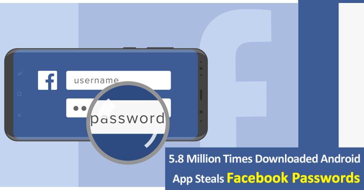 Android App Steals Facebook Passwords
