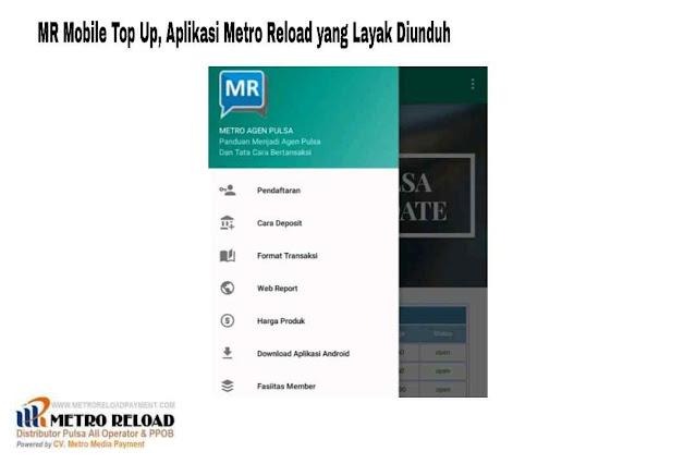 MR Mobile Top Up, Aplikasi Metro Reload yang Layak Diunduh