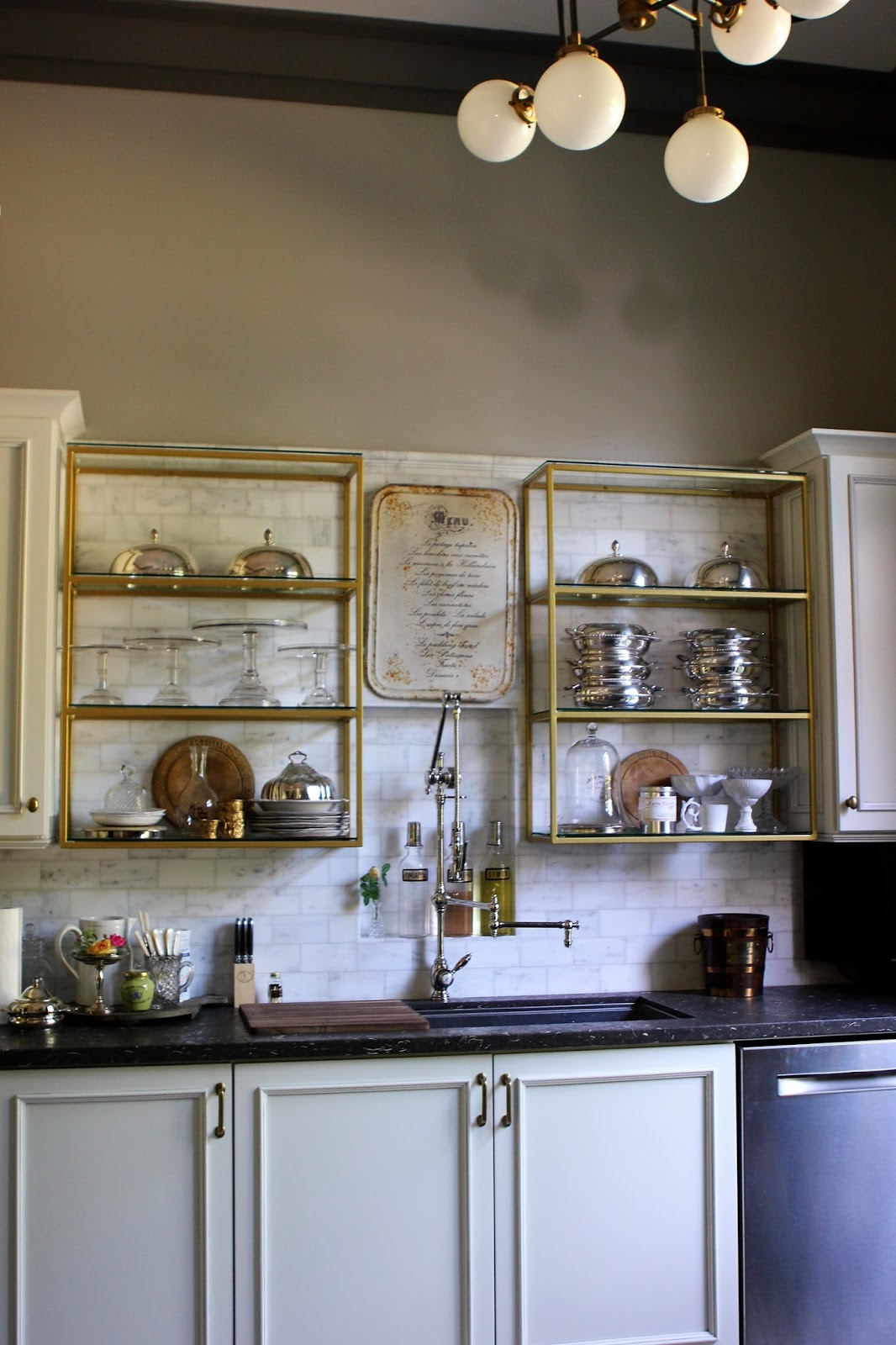 Romancing The Home Open Shelves Create Display Space For