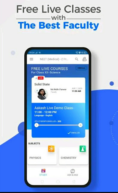 Aakash Digital Learning App Free Live Demo Class  Aakash Ituor Learning Live