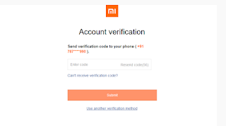 how to reset mi account without phone number