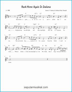 chord back home again in indiana lagu jazz standar