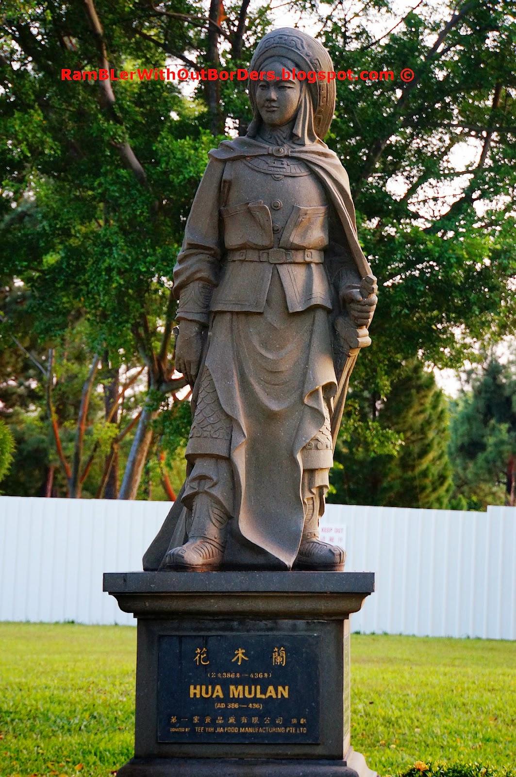 Hua Mulan statue, Chinese Garden, Singapore