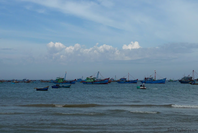 Fishing village in Mui Ne in Vietnam