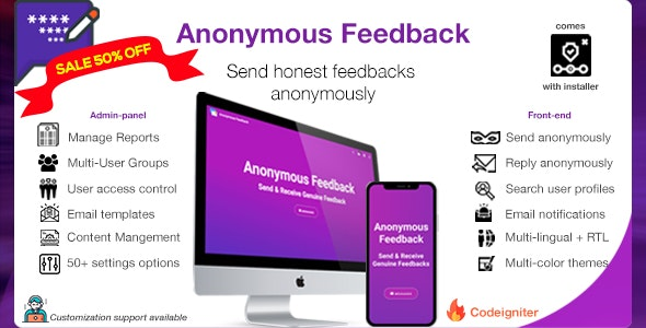 Download Anonymous Feedback v2.10.2 - Get honest feedback
