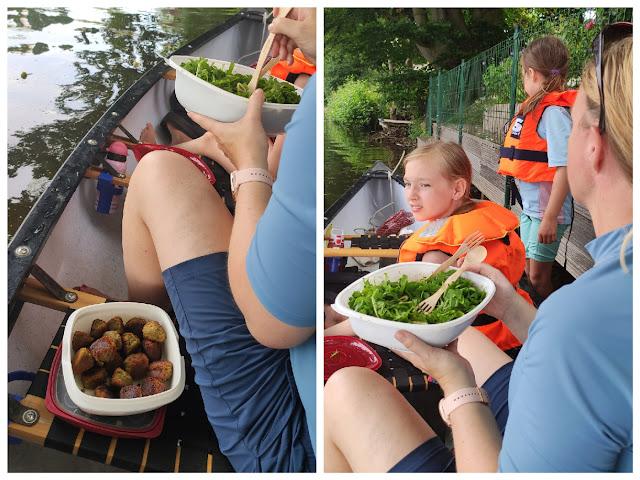 Mittagessen im Kanu