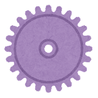 ギアのイラスト(紫)