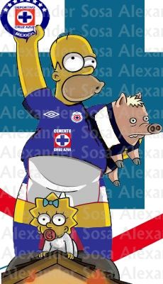 cruz azul Simpson futbol
