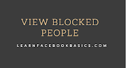 How to View blocked list on Facebook - Unblock People and Facebook Friends