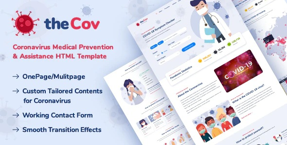 Coronavirus Prevention Website Template
