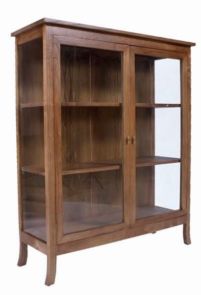 alacena de roble, vitrina cristales madera de roble