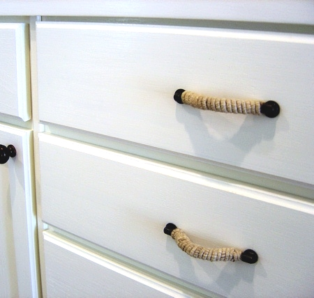 wrap drawer handles with rope