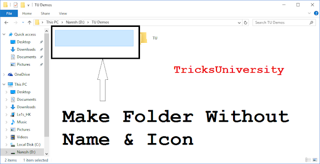 How To Make Folder Without Name & Icon [2016]