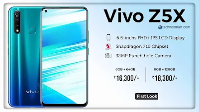 Vivo Z5x 2020 Launch With Triple Rear Cameras, Qualcomm Snapdragon 712 SoC: Check Price, Specifications & More Here