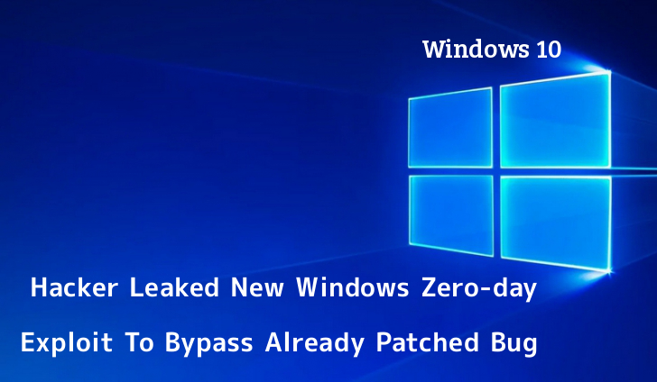 exploit  - IgAQL1559971571 - Hacker Leaked New Windows Zero-day exploit To Bypass Patched Bug
